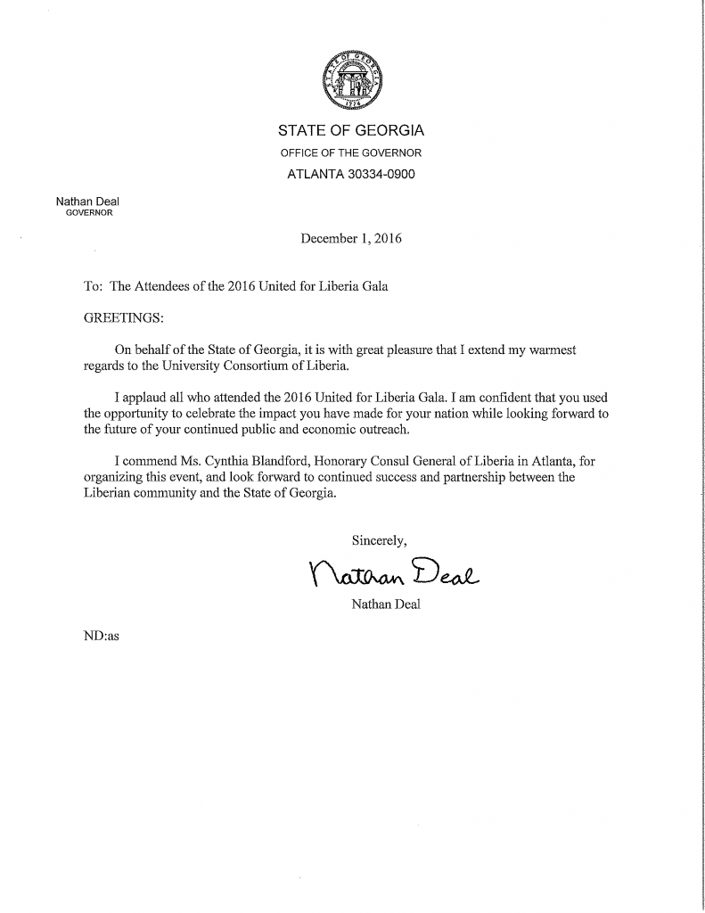 Governor's Letter to UCL