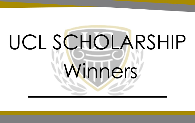 UCL SCHOLARSHIP WINNERS