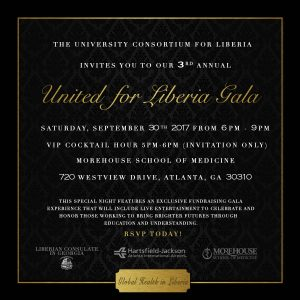 2017 United for Liberia Gala Invite