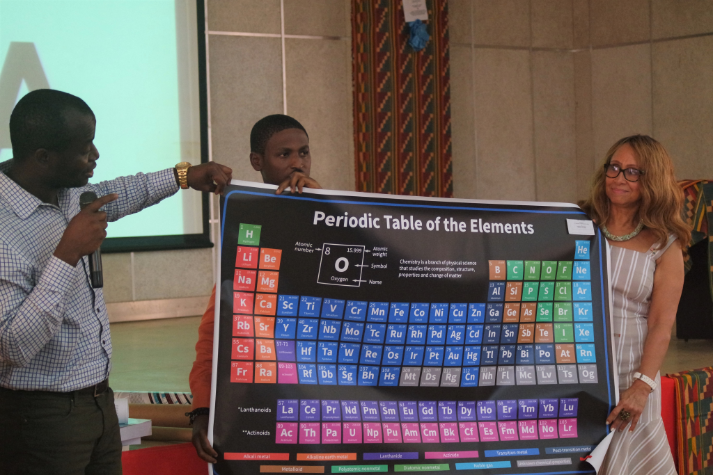 UCL Presents Periodic Table and Books to UL on behalf of the  UCL Board of Directors to help strengthen education at UL